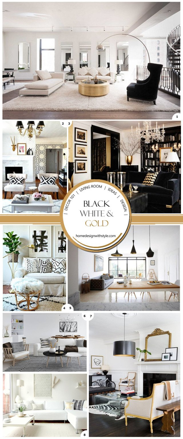 White and Gold Room Decor New Decor 101 Black White and Gold Living Room with Tribal Accents