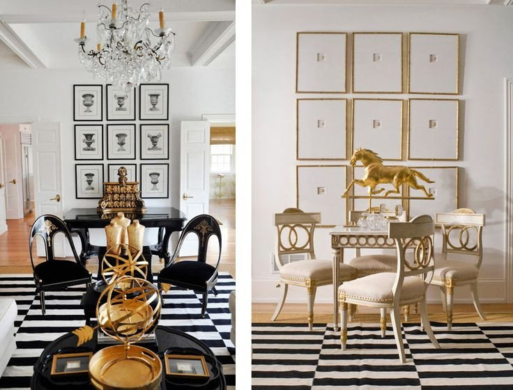 White and Gold Room Decor New Featured Home Black White and Gold themed Décor Better Decorating Bible Pinterest