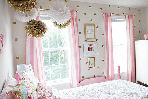 White and Gold Room Decor New Girl S Room In Pink White Gold Decor