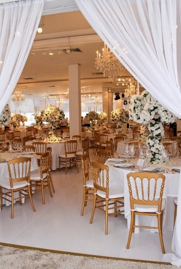 White and Gold Wedding Decor Beautiful Picture Exquisite Gold and White Wedding Ideas