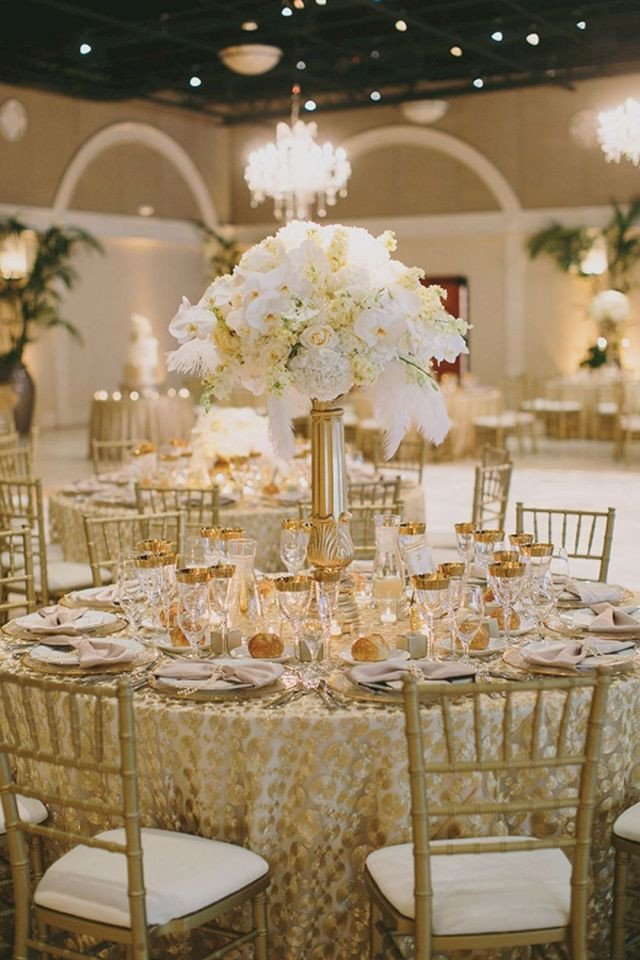 White and Gold Wedding Decor Best Of 40 Glamorous Gold Wedding Decorations Ideas – Oosile