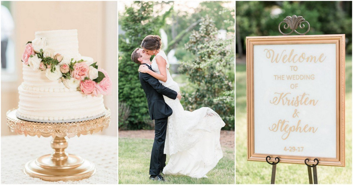 White and Gold Wedding Decor Fresh Elegant White and Gold Wedding with Handmade Reception Details
