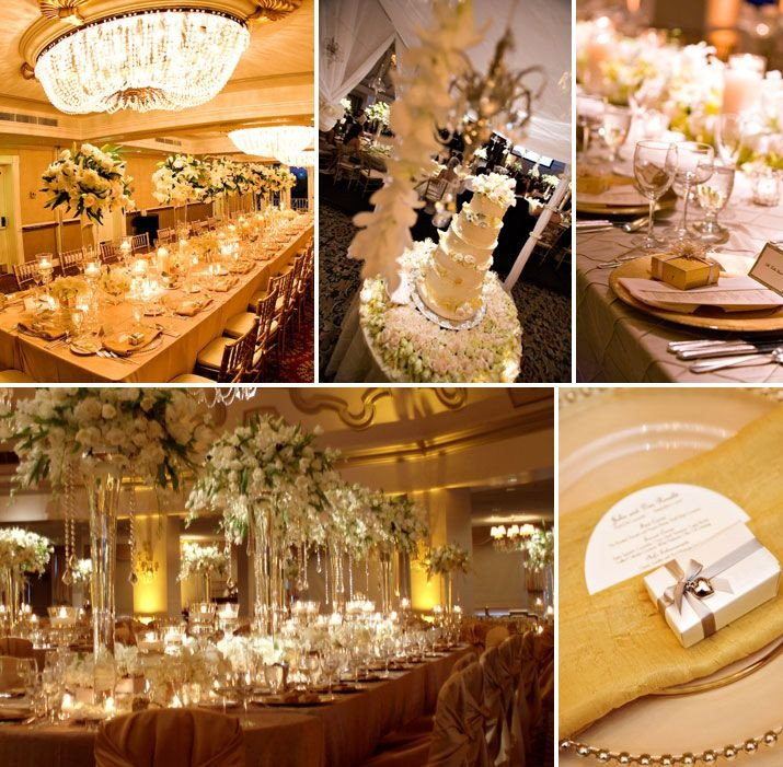 White and Gold Wedding Decor Lovely Color Bo White and Gold
