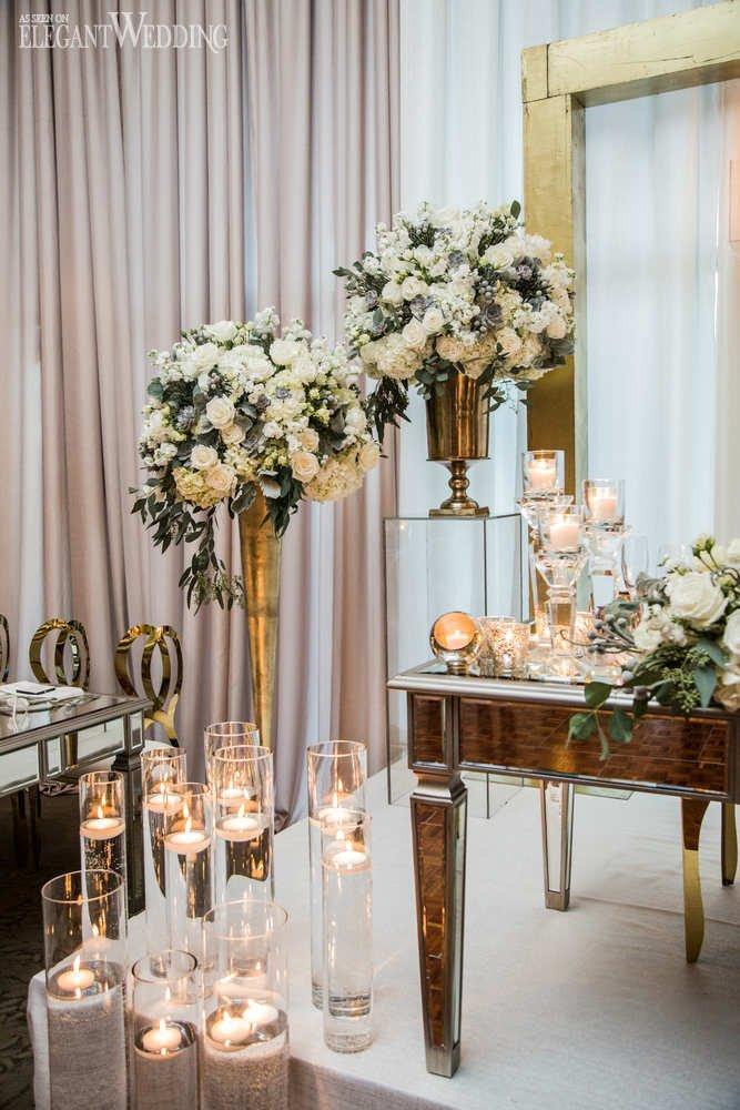 White and Gold Wedding Decor Lovely White & Gold Winter Wedding Ideas