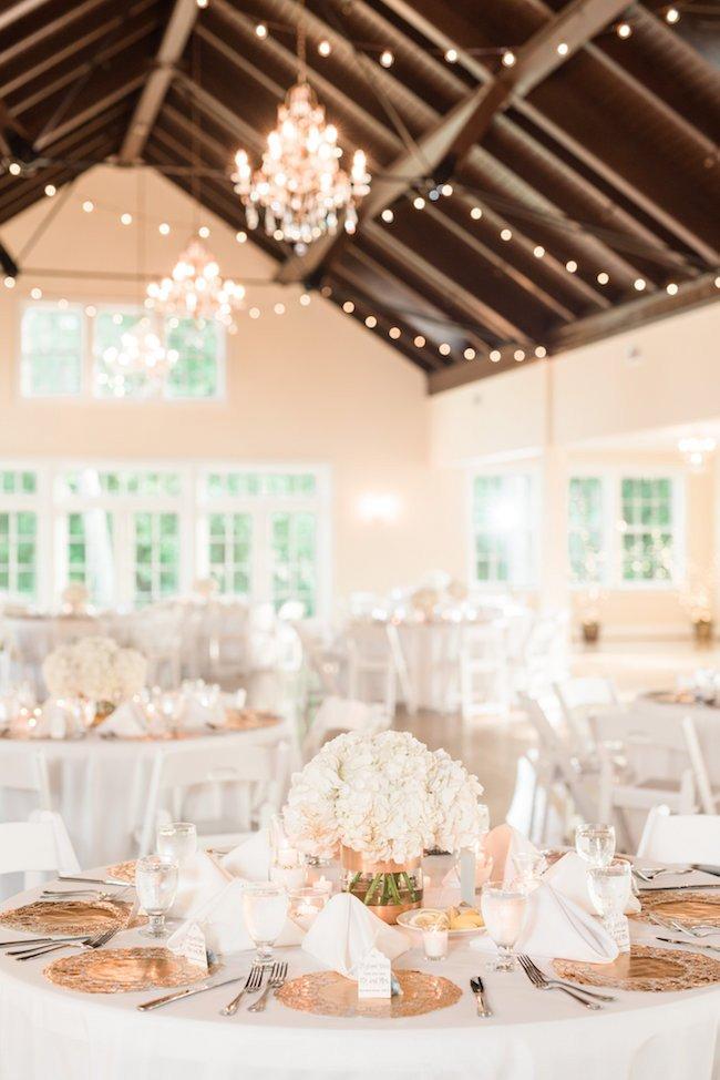 White and Gold Wedding Decor Luxury Elegant White and Gold Wedding with Handmade Reception Details