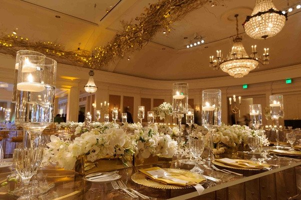 White and Gold Wedding Decor Luxury Lavish White & Gold Country Club Wedding In Houston Texas Inside Weddings