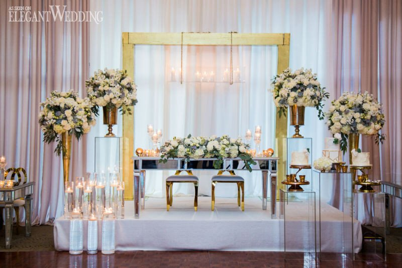 White and Gold Wedding Decor Luxury White & Gold Winter Wedding Ideas