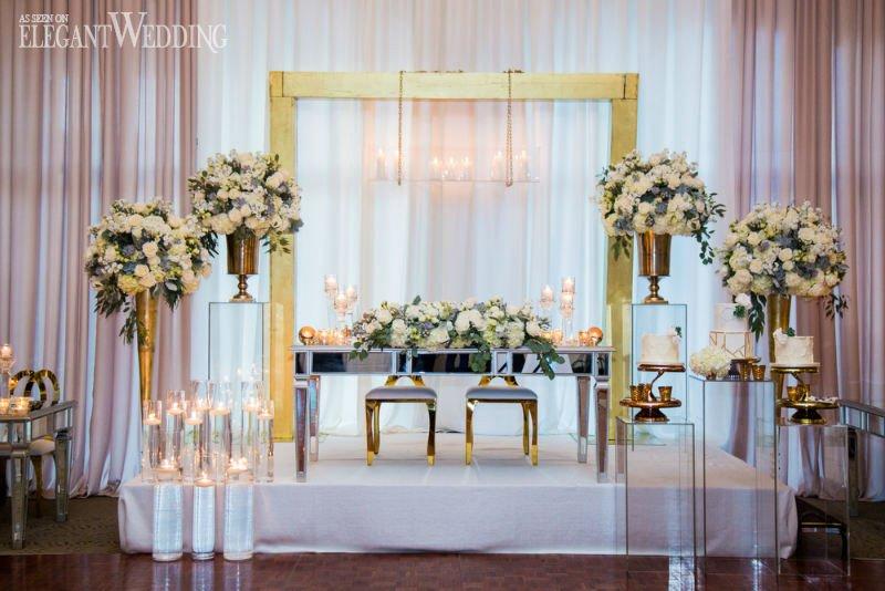White and Gold Wedding Decor Luxury White & Gold Winter Wedding Ideas
