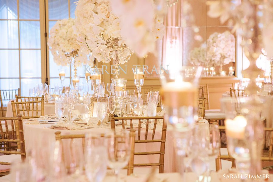 White and Gold Wedding Decor New French Vintage Splendor Wedding at the Westgate Hotel