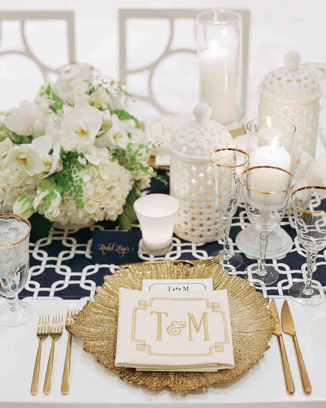 White and Gold Wedding Decor Unique 36 Gold Wedding Ideas