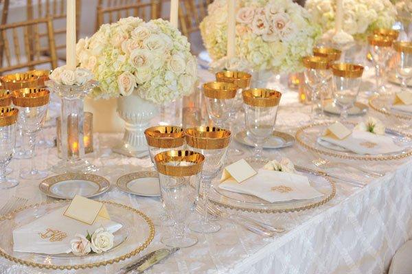 White and Gold Wedding Decor Unique White Wedding Décor Ideas Bridalguide