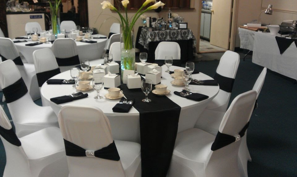 White and Silver Wedding Decor Beautiful Black and Silver Wedding Reception