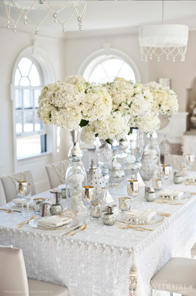 White and Silver Wedding Decor Beautiful Silver and White Creates the Perfect Modern Wedding theme