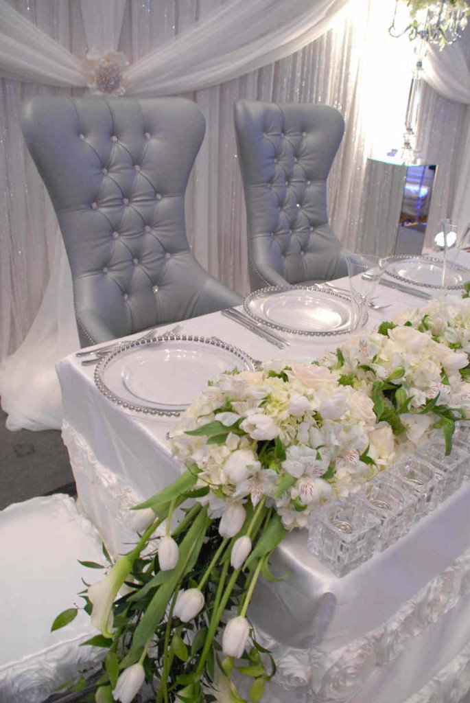 White and Silver Wedding Decor Luxury Elegant White & Silver Wedding theme