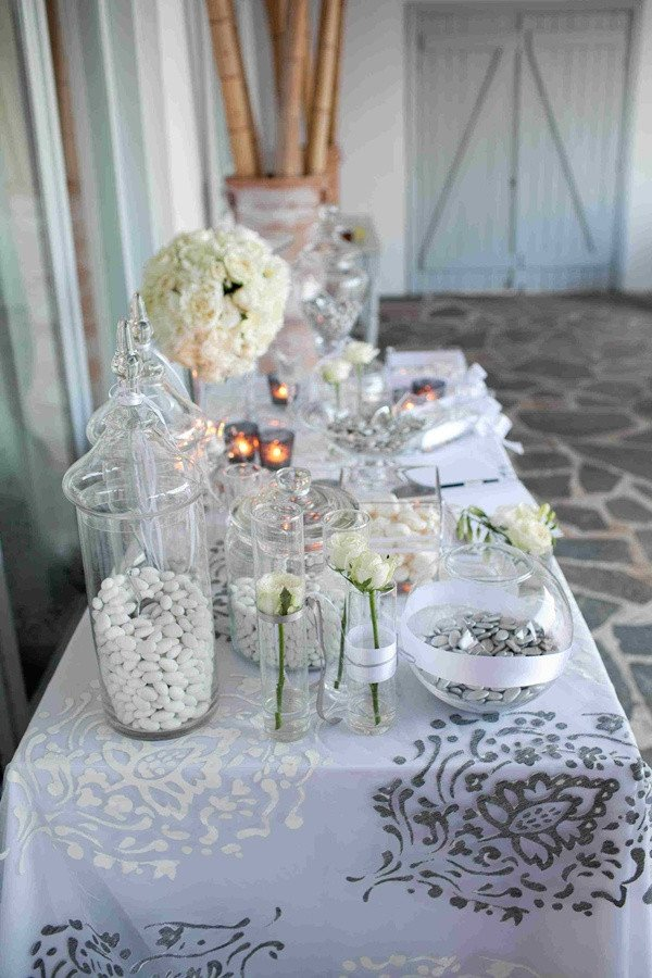 White and Silver Wedding Decor Luxury White and Silver Wedding Decoration