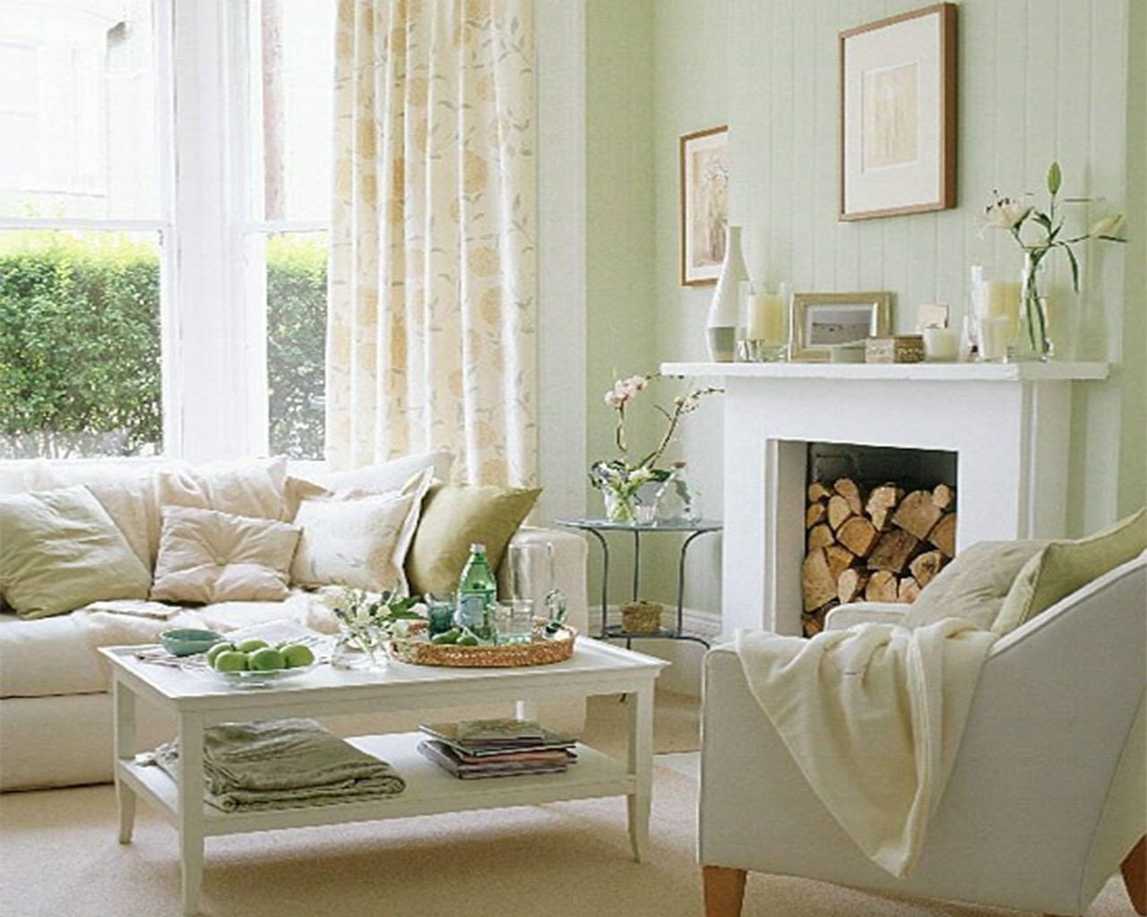 White Paint Guide for Living Room Decorating Elegant Creamy White Living Room with Accents Of Very Light Green and Blue