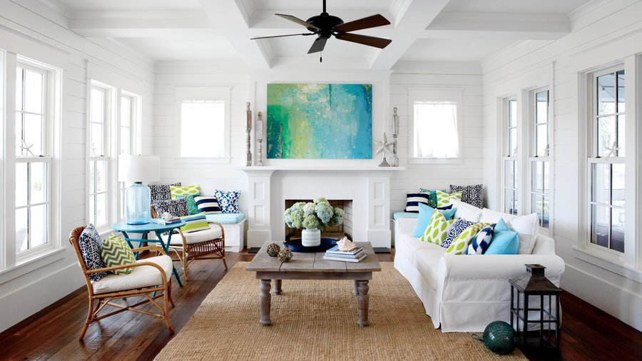 White Paint Guide for Living Room Decorating Fresh 50 Ways to Decorate with Turquoise Coastal Living