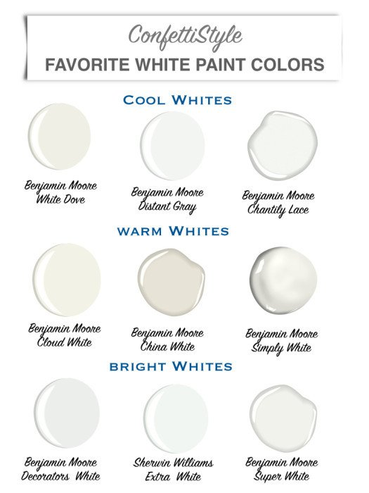 White Paint Guide for Living Room Decorating Lovely Design Guide My Favorite White Paint Colors