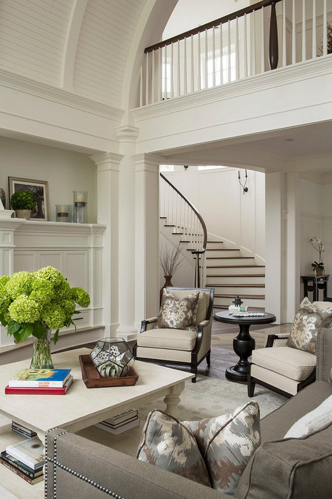 White Paint Guide for Living Room Decorating Unique Traditional Living Room with Barrel Ceiling Home Bunch Interior Design Ideas