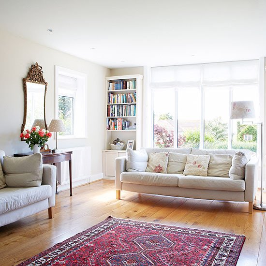 White Traditional Living Room Luxury Traditional White Living Room with Oak Floor Living Room Decorating
