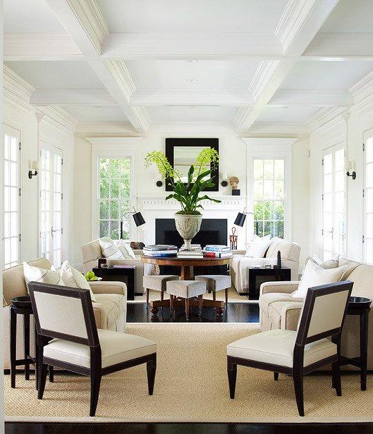 White Traditional Living Room New Ggbg Style September 2012