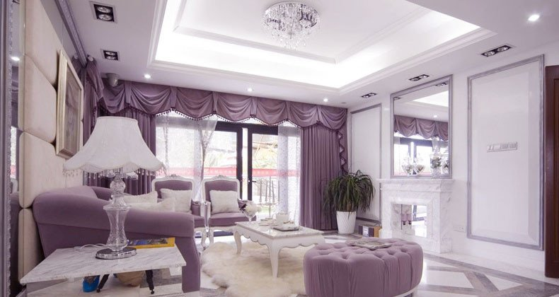 White Traditional Living Room New White Lilac Luxury Traditional Living Room Interior Design Ideas