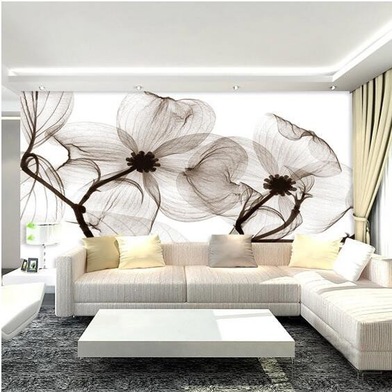 White Wall Decor for Bedroom Fresh Black White Flower 3d Abstract Mural Wallcoverings Wallpapers Murals Wall Paper Roll