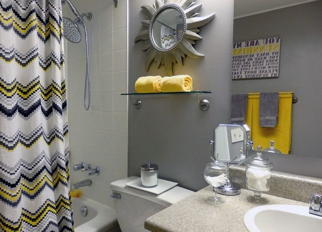 Yellow and Gray Bathroom Decor Awesome Yellow Gray Bathroom Home Design Ideas Remodel and Decor Innovation Ideas Grey Yellow