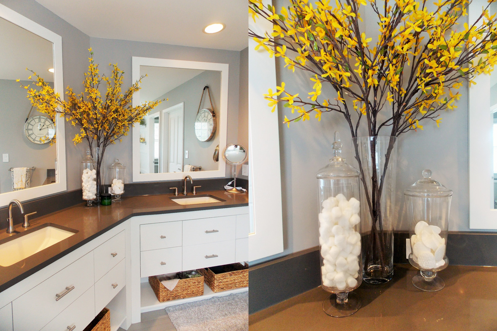 Yellow and Gray Bathroom Decor Beautiful Jessica Stout Design Yellow Gray Modern Master Bath