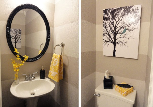 Yellow and Gray Bathroom Decor Beautiful Pondering the Powder Room