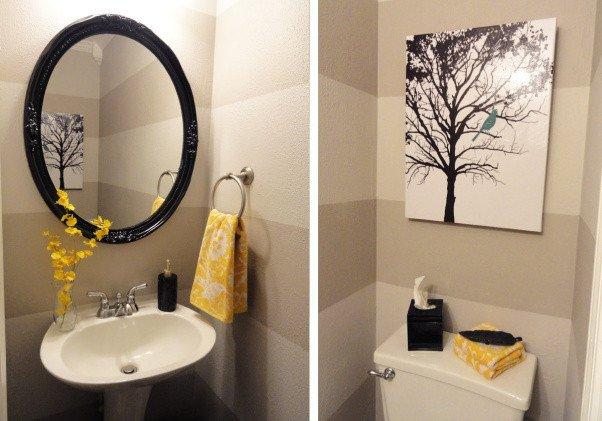 Yellow and Gray Bathroom Decor Beautiful Pondering the Powder Room