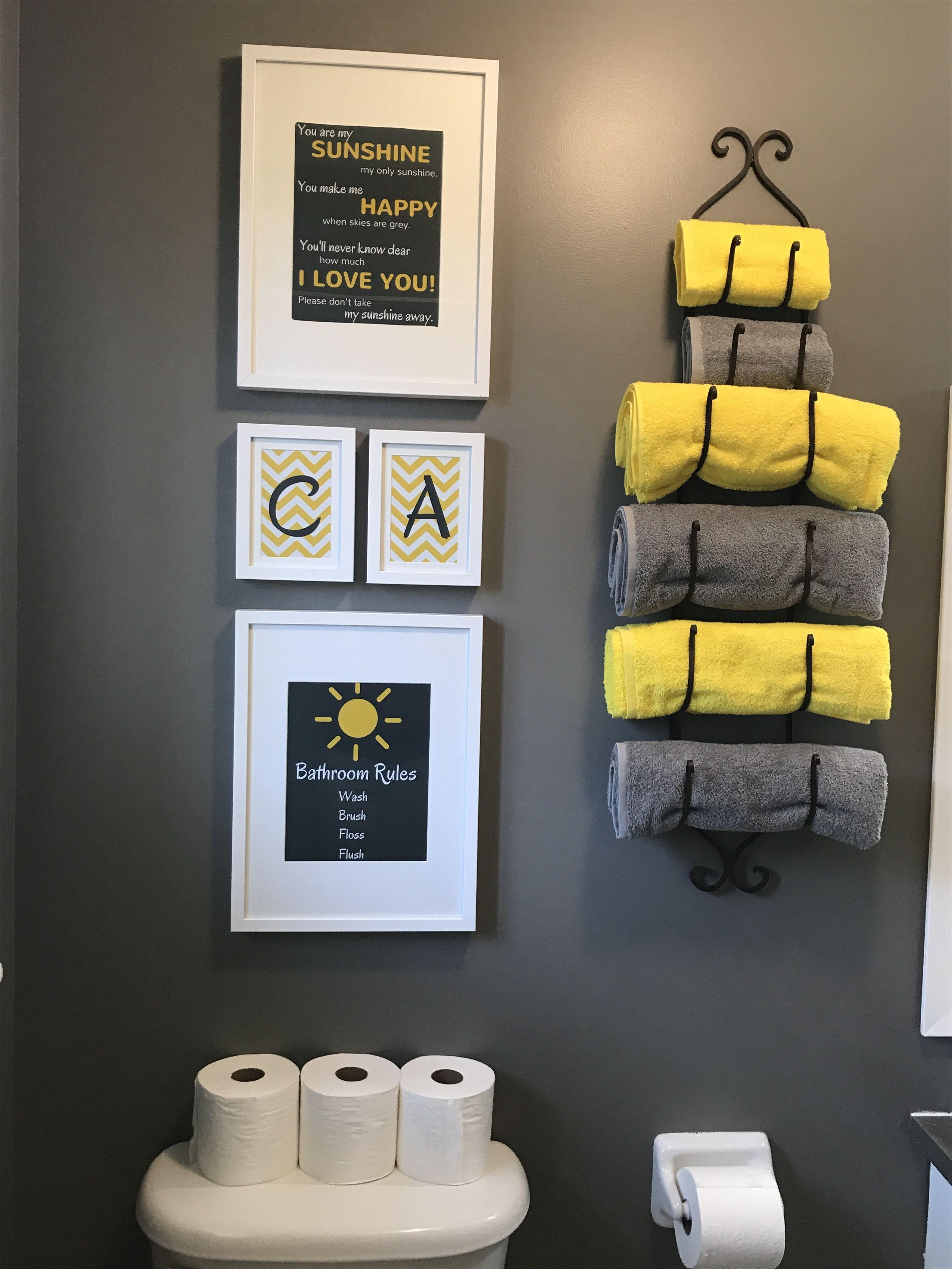 Yellow and Gray Bathroom Decor Elegant Diy Bathroom Yellow and Grey From Ikea Frames Ikea and Photos Were Created Using Canva