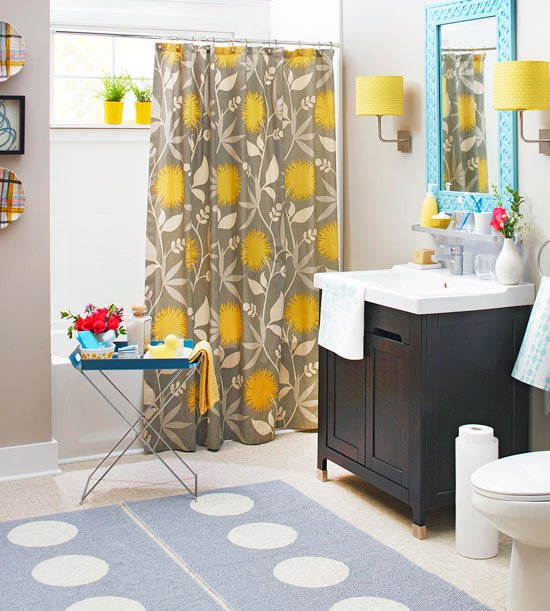 Yellow and Gray Bathroom Decor Inspirational Colorful Bathrooms 2013 Decorating Ideas Color Schemes