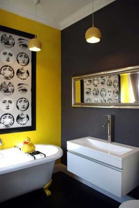 Yellow and Gray Bathroom Decor Unique 22 Bathrooms with Yellow Accents Messagenote