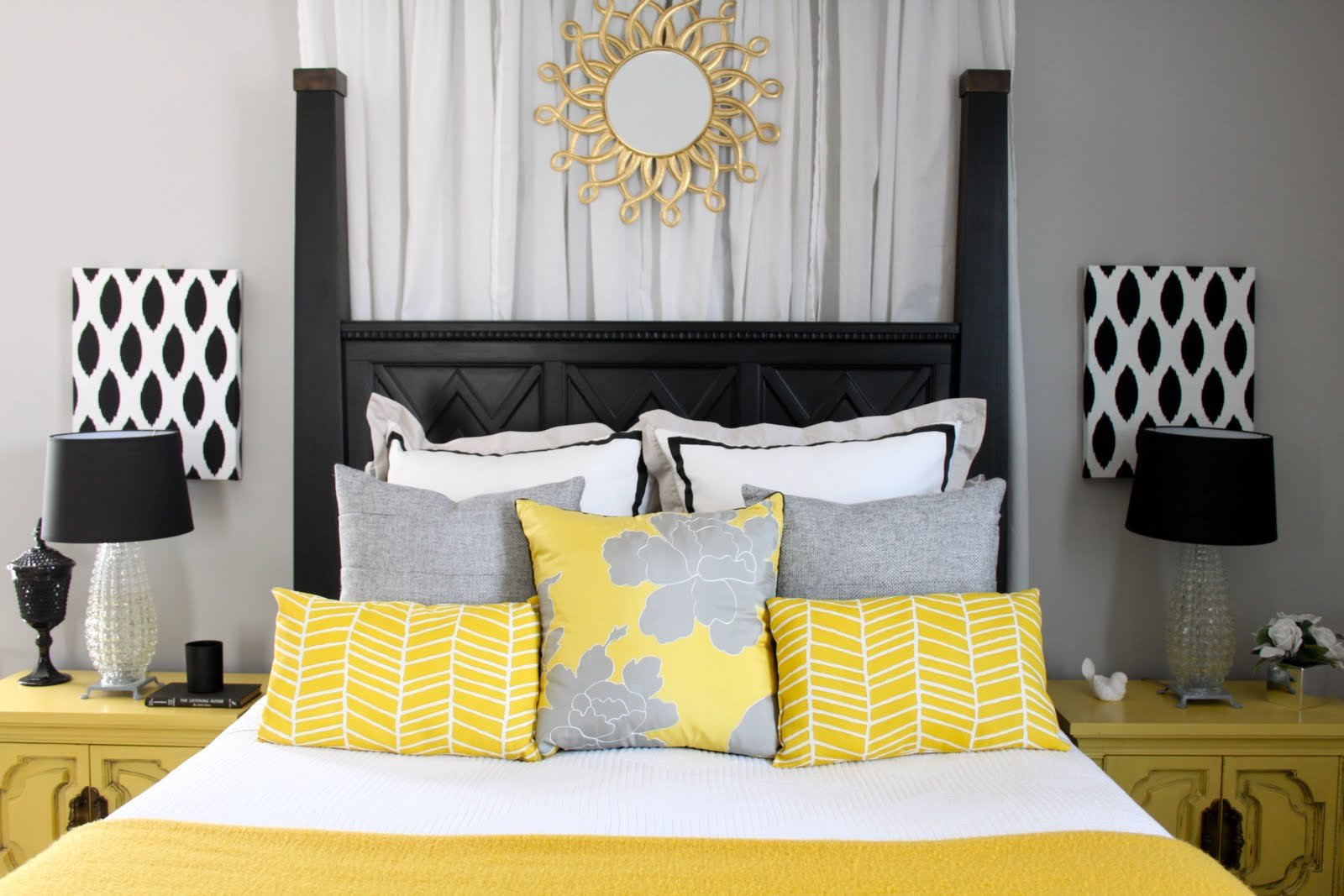 Yellow and Gray Bedroom Decor Unique Dwellings by Devore the Master