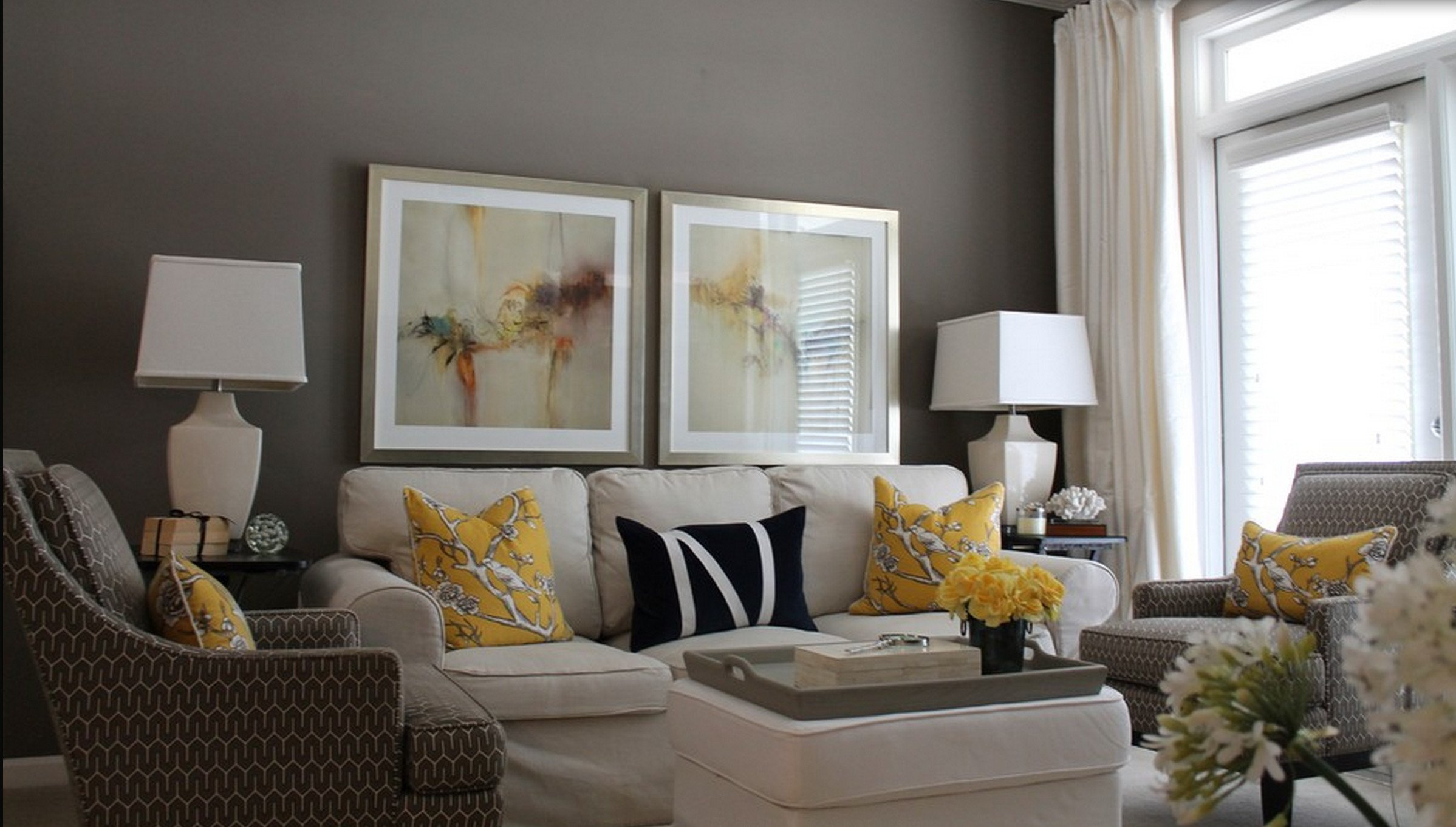 Yellow and Gray Home Decor Beautiful Contemporary Decor Living Room Gray and Yellow