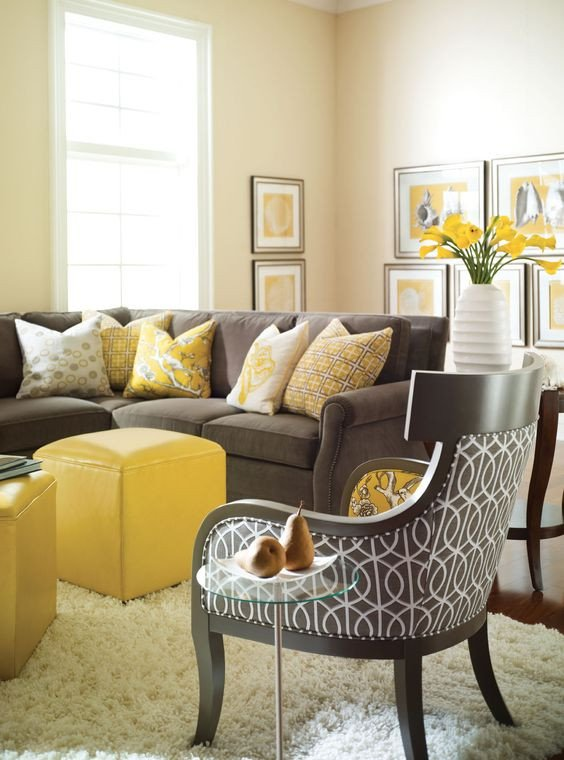 Yellow and Gray Home Decor Elegant 29 Stylish Grey and Yellow Living Room Décor Ideas Digsdigs