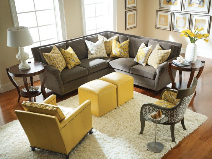 Yellow and Gray Home Decor Elegant Modern Grey and Yellow Living Room Designs