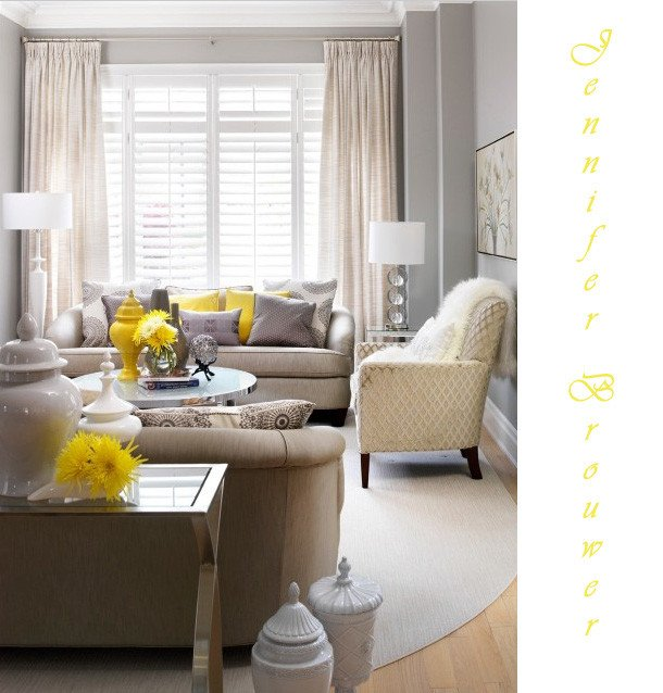 Yellow and Gray Home Decor New Hello Grey & Yellow
