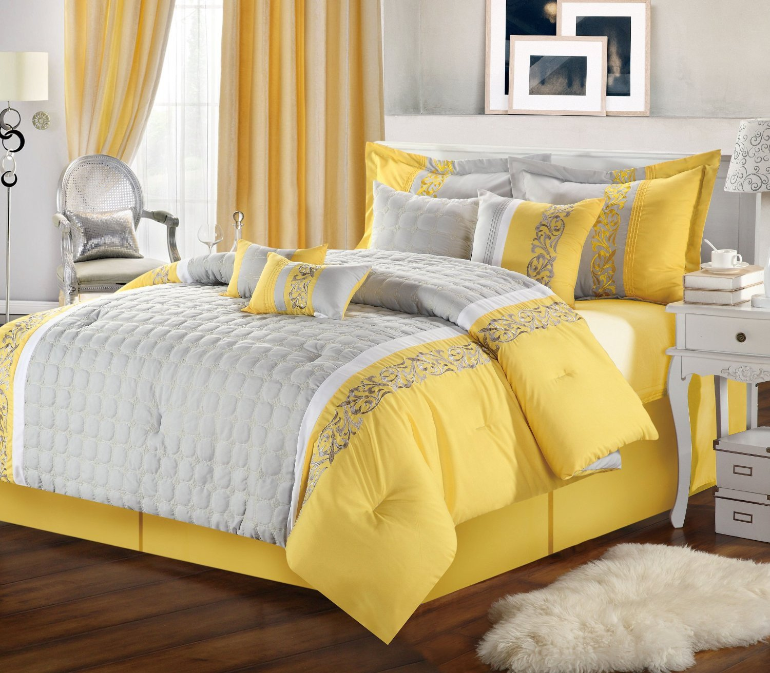Yellow and Gray Home Decor Unique Gray and Yellow Bedroom with Calm Nuance Traba Homes