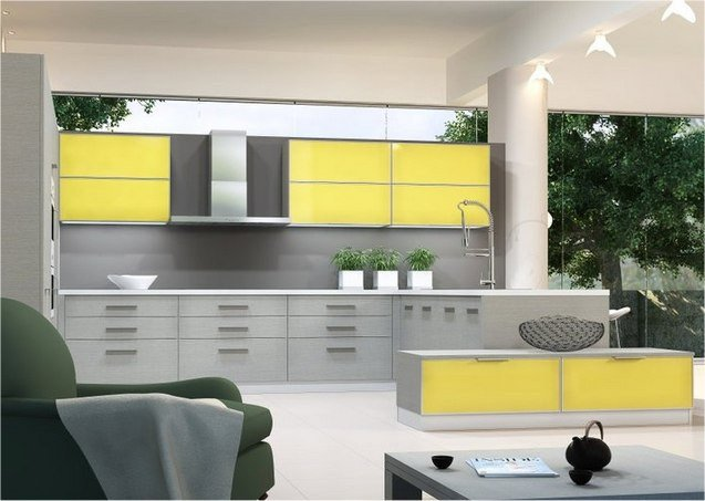 Yellow and Gray Kitchen Decor Beautiful Modern Yellow and Grey Kitchen Ideas