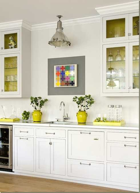 Yellow and Gray Kitchen Decor Beautiful Yellow Color Accents Jazz Up Elegant Dark Gray Kitchen Decorating