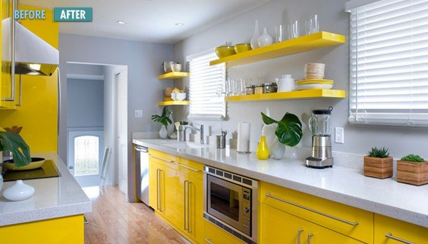Yellow and Gray Kitchen Decor Lovely Hot Color Bo Yellow & Gray