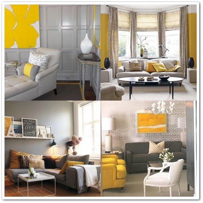 I Heart Home Decor GREY & YELLOW