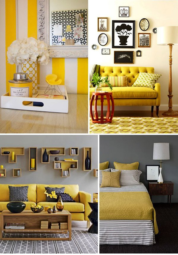 Yellow and Grey Home Decor Fresh 1000 Images About Home☆colorful Interiors On Pinterest