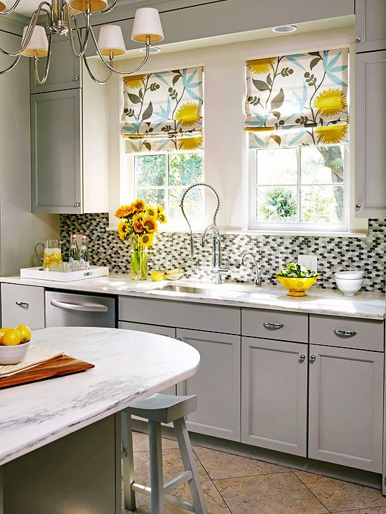 Yellow and Grey Kitchen Decor Lovely Gray and Yellow Kitchen Contemporary Kitchen Bhg