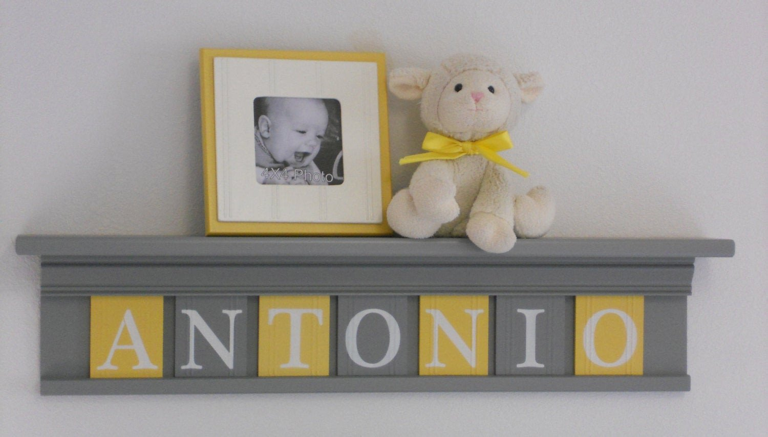 Yellow and Grey Wall Decor Awesome Yellow and Gray Nursery Wall Decor 30 Grey Shelf Sign