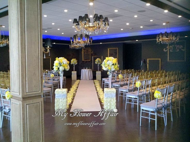 Yellow and Grey Wedding Decor Beautiful 455 Best Ceremony Wedding Decor Images On Pinterest