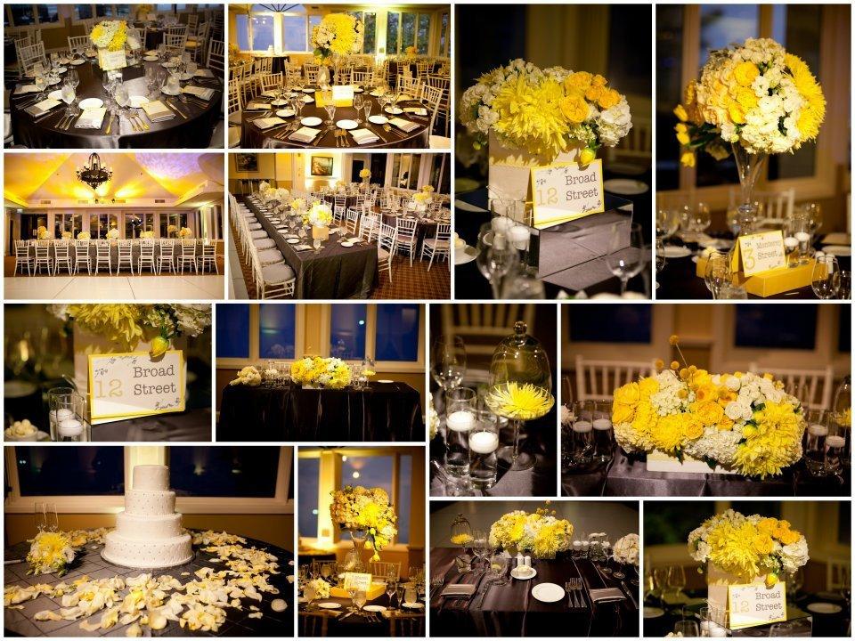 Yellow and Grey Wedding Decor Beautiful Gray & Yellow Decoration Ideas & Rentals