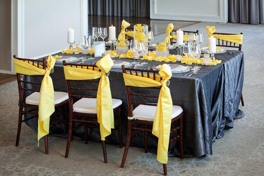 Yellow and Grey Wedding Decor Best Of Modern Yellow & Slate Wedding Inspiration